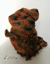 Zachte sjaal met  dierenprint| oranje