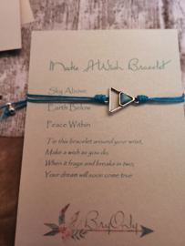 Verstelbare Make A Wish Bracelet geometrie | Peace