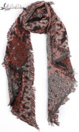 Zachte sjaal met slangenprint | oranje