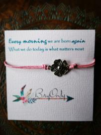 Verstelbare Wish bracelet flower