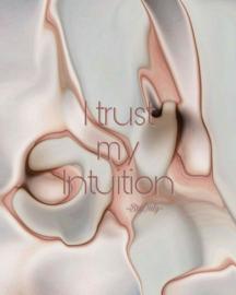 Affirmatiekaartje en engeltje I trust my intuition