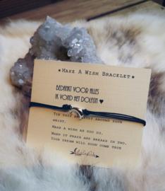 Verstelbare Make A Wish Bracelet  Dolfijn | Juf en meester