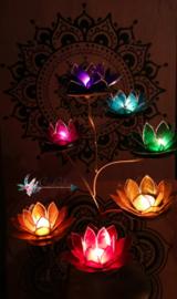 Lotus waxinelicht blauw | 5e chakra