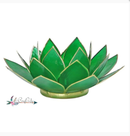Lotus waxinelicht groen | 4e chakra