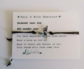 Verstelbare Make A Wish Bracelet | BIJzondere | Juf en meester