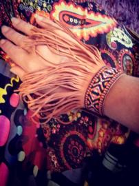 frills armband echt leer