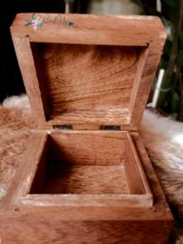 Mango Houten doosje uitgesneden Uil