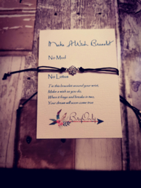 Verstelbare Make A Wish Bracelet No Mud No Glory Lotus