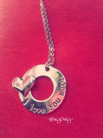 I love you more ketting