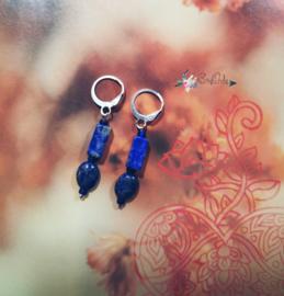 Astraea Goddess of Truth | Lapis Lazuli | silver plated oorbellen