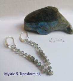Mystic & Transforming | Oorbellen Labradoriet