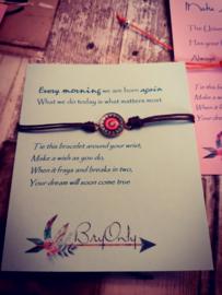 Verstelbare Make A Wish Bracelet Mandala  Do it