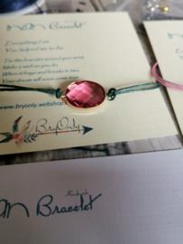 Verstelbare Wish bracelet   Mom