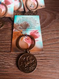 Sleutelhanger Geluksmuntje | Lucky penny