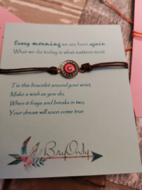 Verstelbare Make A Wish Bracelet Mandala | Follow your dreams