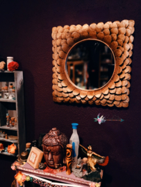 Goudkleurige spiegel Schelpjes PTMD