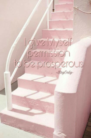 Affirmatiekaartje en engeltje I give myself permission