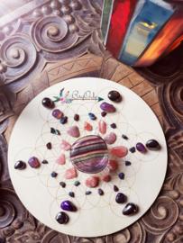 Crystal Grid| Flower of Life | 25 cm edelstenen BryOnly