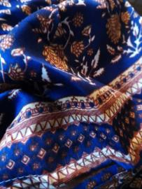Ibiza Dress one size fits all | Wikkeljurk | sari |  donker blauw