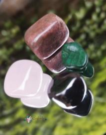 You Rock | Inner peace | Moonshine Green, Rozenkwarts, hematiet, Jaspis | S