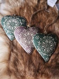 Handbeschilderde Houten harten