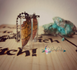 Butterfly pendant ketting