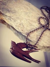 vintaj Brass hanger Zwaluw