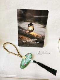 Achteruitkijkspiegel hanger 'Oh my Buddha'| brievenbus | inclusief verzenden