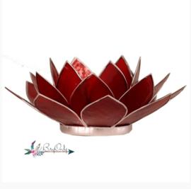 Lotus waxinelicht rood | 1e chakra