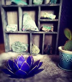 Lotus Waxinelicht Indigo