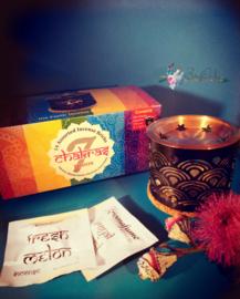 Box Aromafume Exotic Incense Diffuser en 14 blokjes van de 7 chakra's