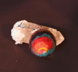 Houten amulet Rainbow