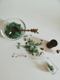 Flesje met roller gevuld met Aventurijn groen 5ml