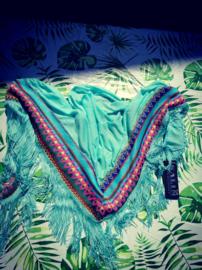 mint groene driehoek shawl