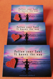 Follow your Soul, It knows the way | pin/speldje