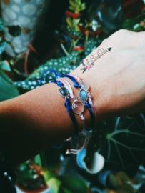 Verstelbare armband met een prachtige rozenkwarts