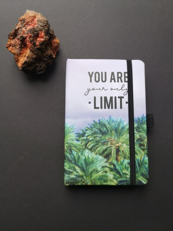 Notitieboekje met bij behorende pen You are your only Limit
