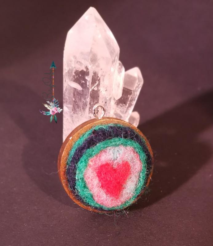 Houten amulet Beloved