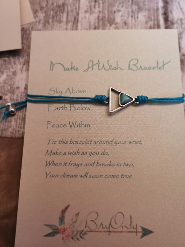 Verstelbare Make A Wish Bracelet geometrie   Peace