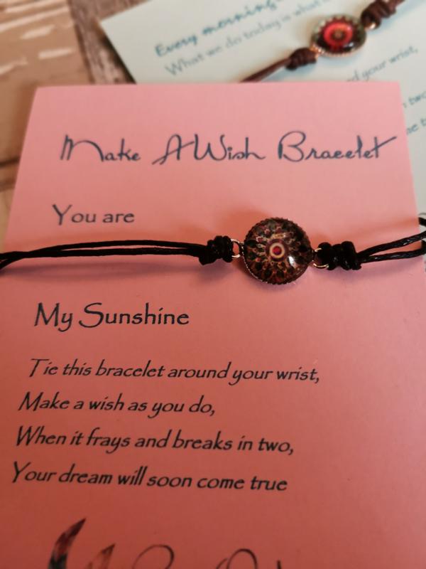 Verstelbare Make A Wish Bracelet Mandala | Sunshine
