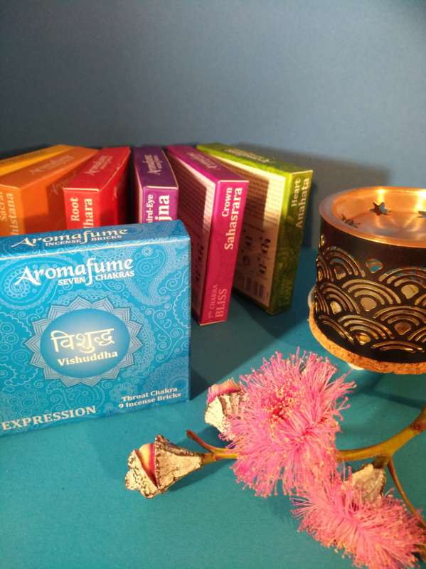 Aromafume Chakra 9 Wierookblokjes | Vishuddha | keel chakra