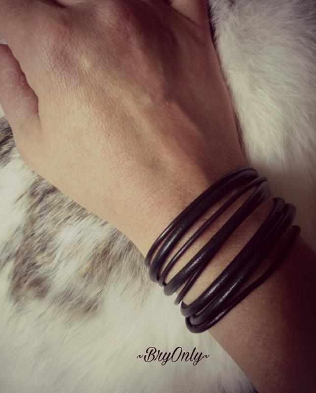 Dames en heren Leather wrap, armband echt leer