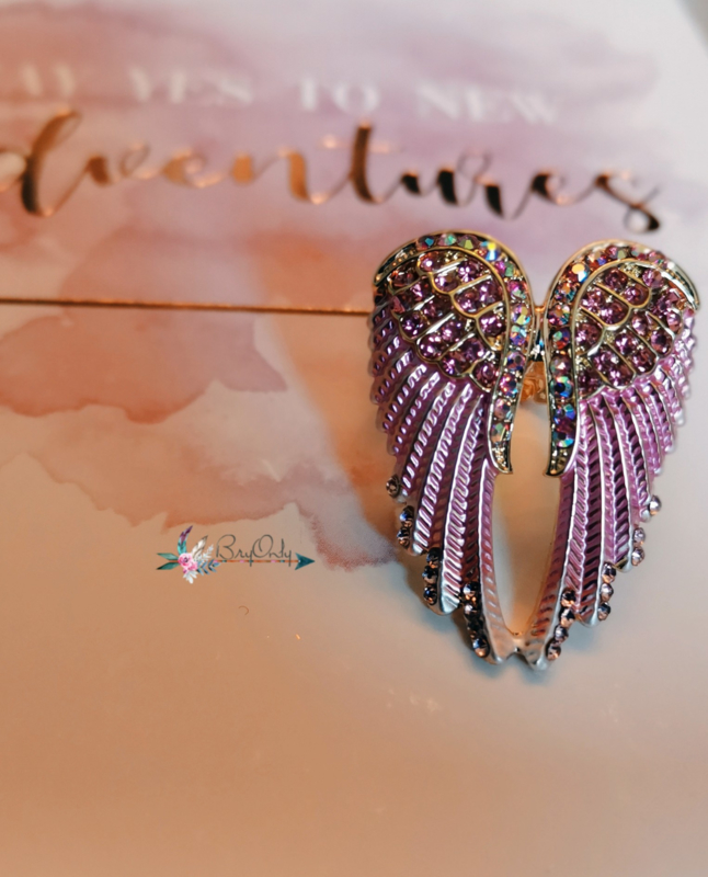 Angle wing ring pink