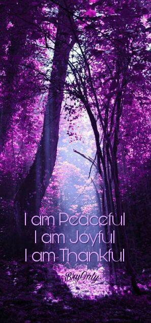 Affirmatiekaartje  en engeltje I am peachful