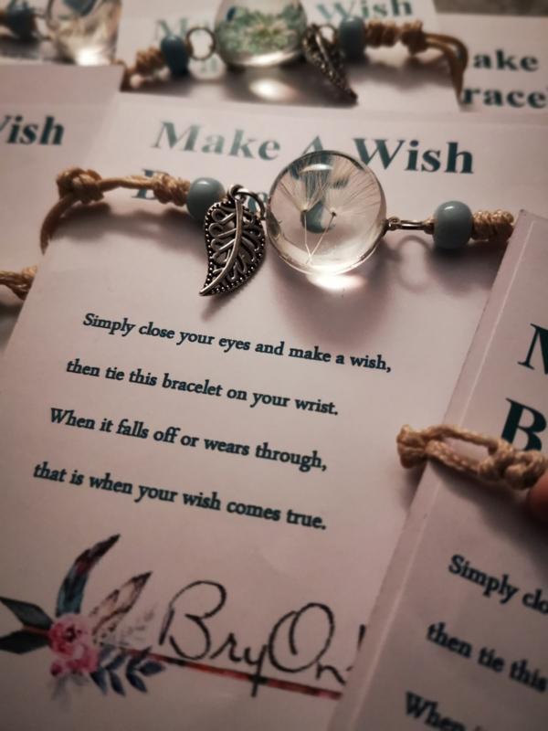 Verstelbare Make A Wish Bracelet pluizenbol