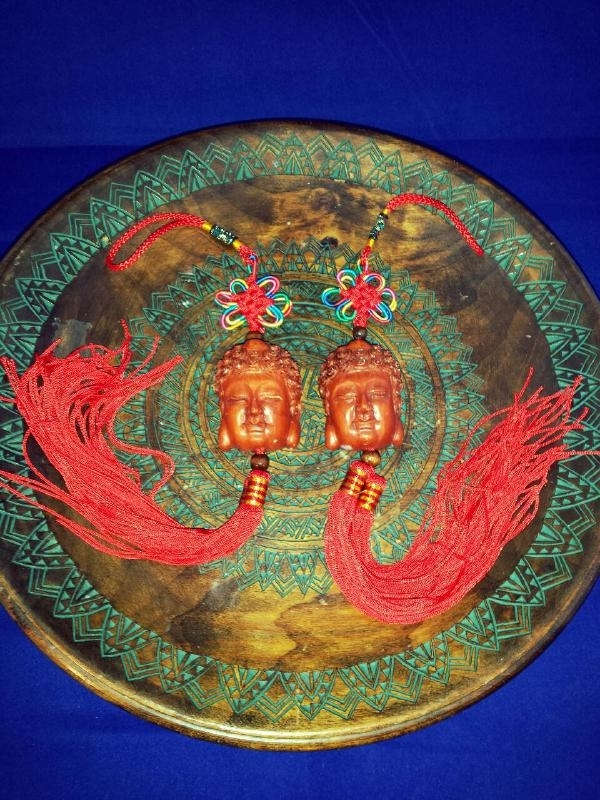 Boeddha hoofd geluks sleutelhanger