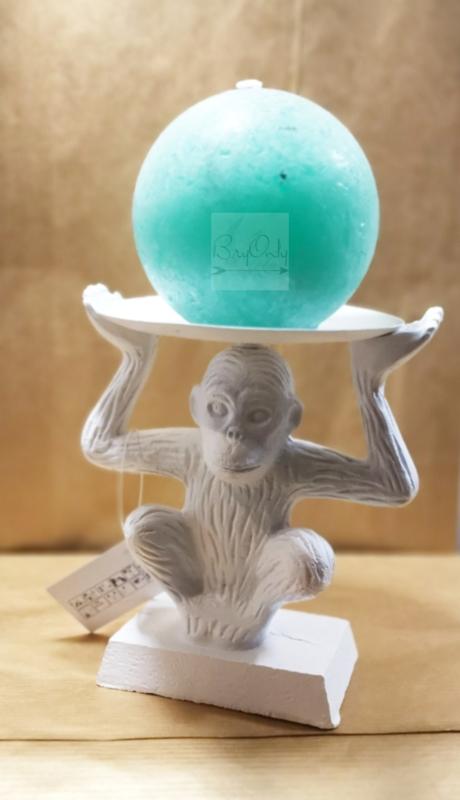 Monkey see kaarsenhouder   wit