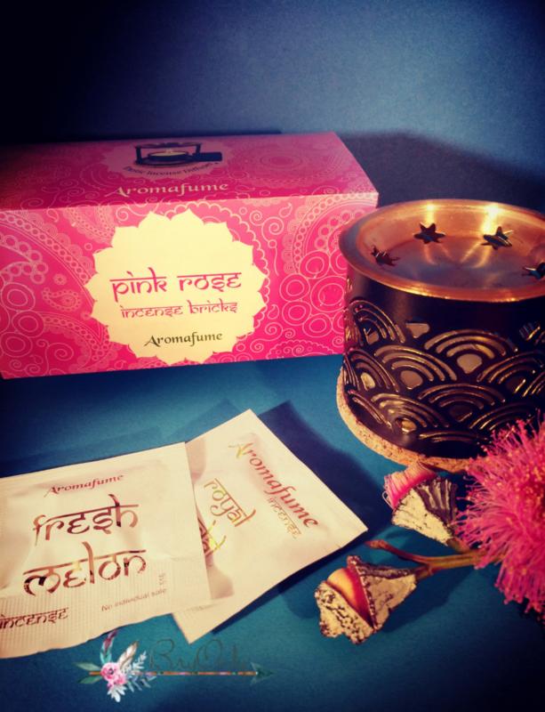 Box met 20 Aromafume Incense Blokjes Pink Rose