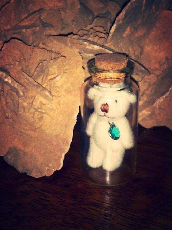 Tiny Tiny Bear in a bottle