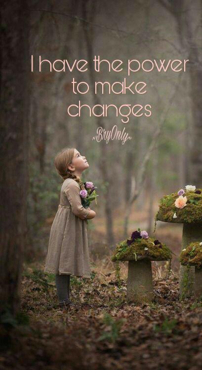 Affirmatiekaart en engeltje I have the power to make changes